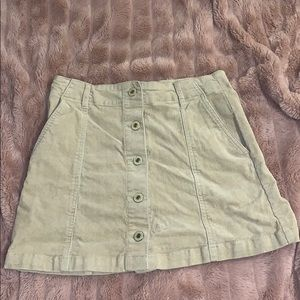 Forever 21 corduroy button-up skirt